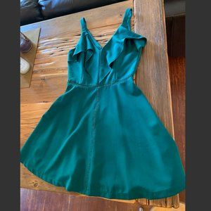 Adelyn Rae Emerald Green A Line Dress